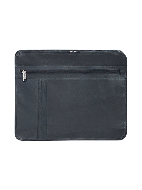 Scully Leather Soft Plonge Zip Envelope Black