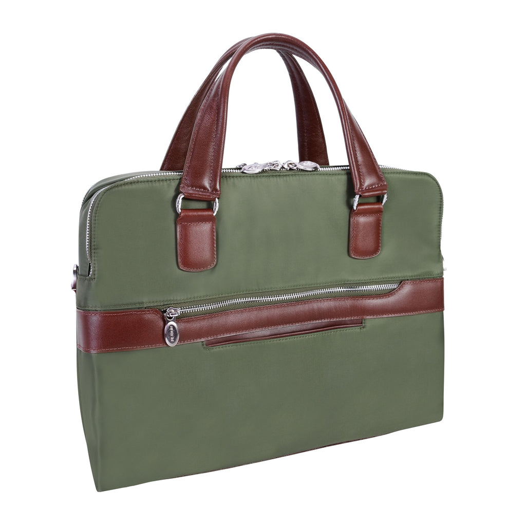 McKlein USA Hartford Nylon Dual Compartment Briefcase Assorted Colors
