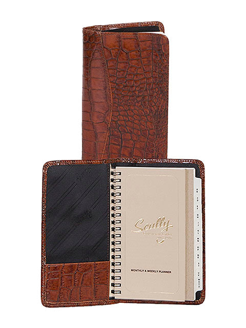 Scully Croco/Ostrich Leather pocket planner
