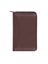 Scully Leather Soft Plonge Zip Pocket Planner Chocolate