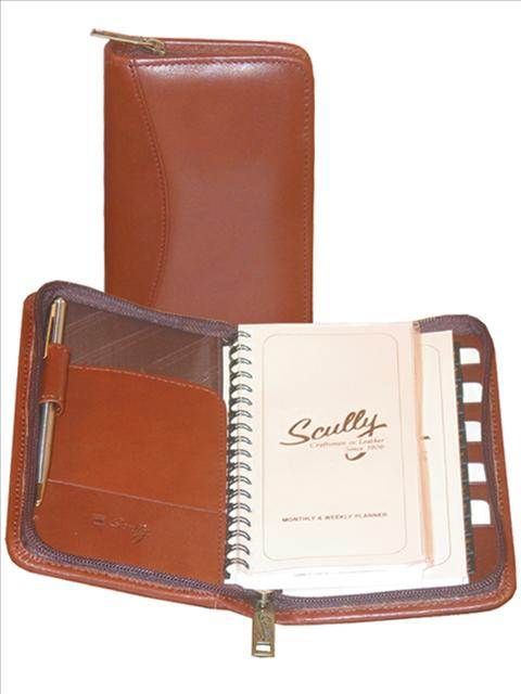 Scully Leather Soft Plonge Zip Pocket Planner