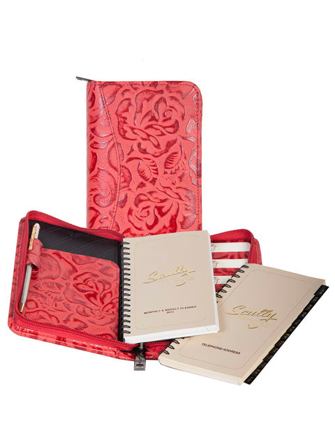 Scully New Tooled Leather zip pocket planner