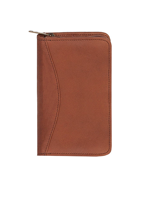 Scully Leather Canyon Zip Pocket Planner Brown