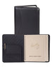 Scully Leather Soft Plonge Wirebound Desk Size Planner Black
