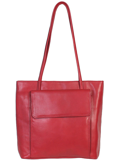 Scully Leather Handbag Red
