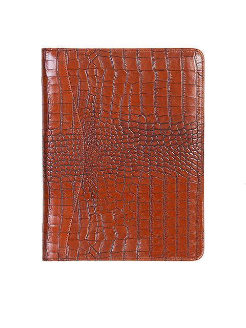 Scully Leather Letter Size Pad Dark Brown