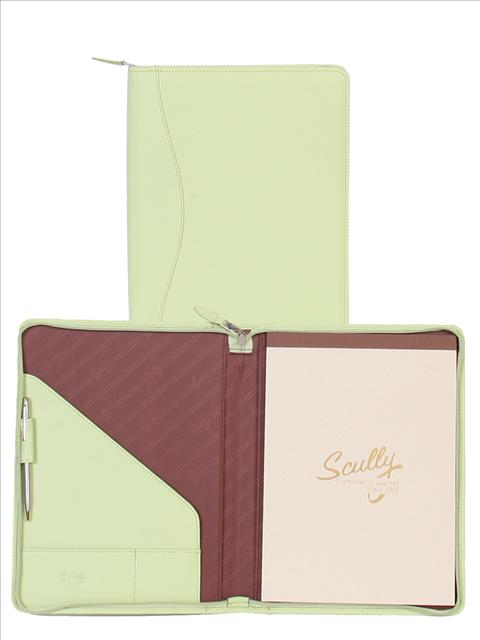 Scully Soft Lamb Leather zip letter pad