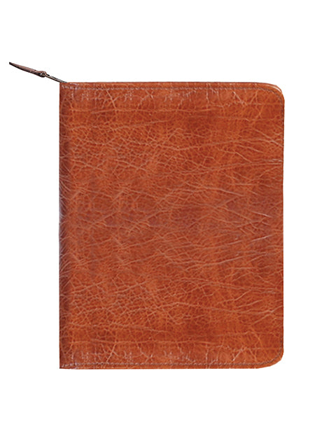 Scully Antique Calf Leather zip letter pad