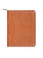 Scully Leather Zip Letter Pad Antique Brown