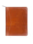 Scully Leather Zip Letter Pad Brown Lizard