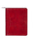 Scully Italian Leather Zip Planner Red