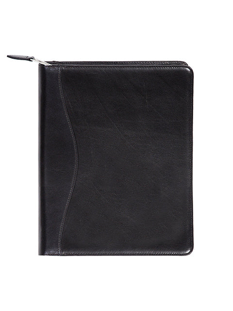 Scully Italian Leather Zip Planner Black