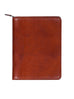 Scully Italian Leather Zip Letter Pad Cognac