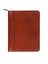 Scully Italian Leather Zip Planner Cognac