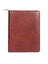 Scully Italian Leather Zip Letter Pad Mahogany