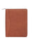 Scully Leather Soft Plonge Zip Planner Brown