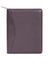Scully Leather Soft Plonge Zip Planner Chocolate