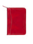 Scully Italian Leather Junior Zip Padfolio Red