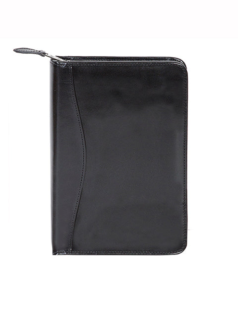 Scully Italian Leather Junior Zip Padfolio Black