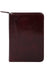 Scully Italian Leather Junior Zip Padfolio Walnut
