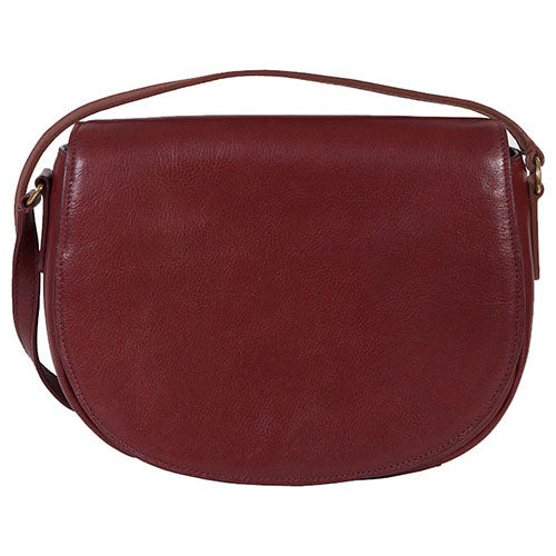Scully Leather Full Flap Handbag Red