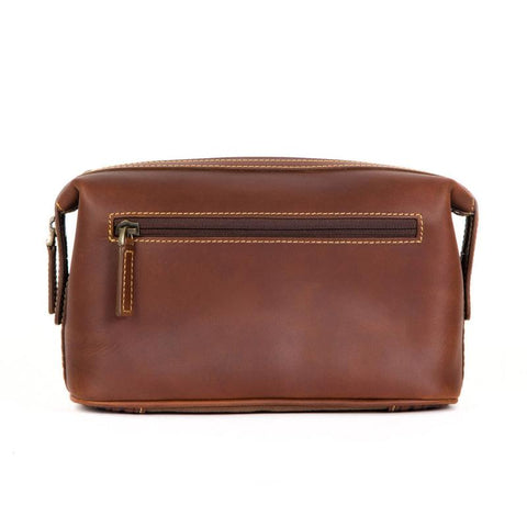 Boconi Bryant Cargo Travel Kit in Antiqued Mahogany with Houndstooth