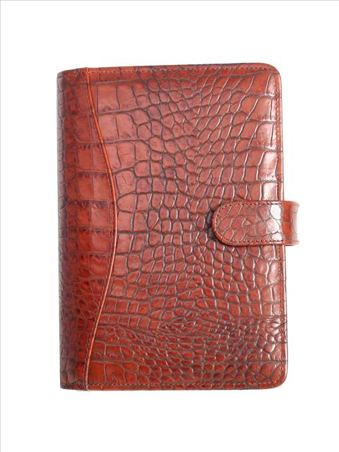 Scully Croco/Ostrich Leather weekly planner