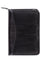 Scully Leather Zip Weekly Planner Black Lizard