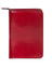 Scully Italian Leather Zip Weekly Planner Red