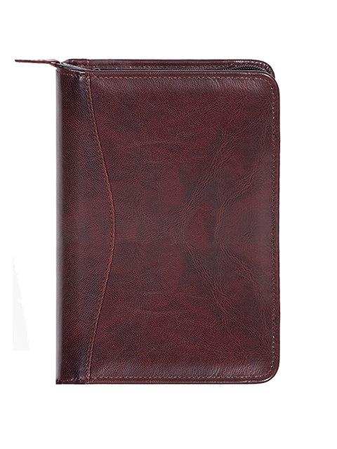 Scully Italian Leather Zip Weekly Planner Burgundy