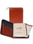 Scully Italian Leather Zip Weekly Planner Cognac