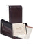 Scully Italian Leather Zip Weekly Planner Walnut