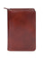 Scully Italian Leather Zip Weekly Planner Mahogany