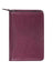 Scully Italian Leather Zip Weekly Planner Plum