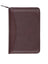 Scully Leather Soft Plonge Zip Weekly Planner Chocolate