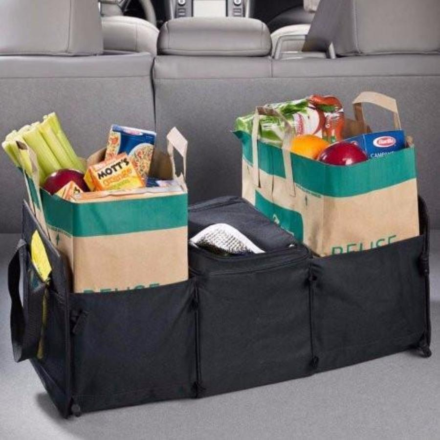 Lewis N Clark High Road 3 in 1 Cargo Cooler Tote for Autos Black