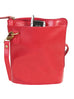 Scully Leather Handbag with Expandable Side Red