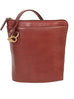 Scully Leather Handbag with Expandable Side Brown