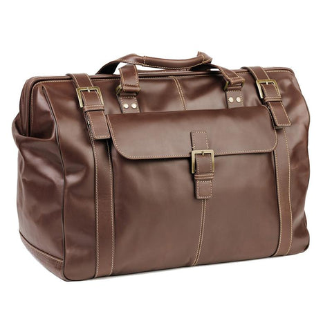 Boconi Bryant Safari Bag in Antique Mahogany with Houndstooth