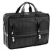 McKlein USA Hubbard Nylon Double Compartment Laptop Case Black
