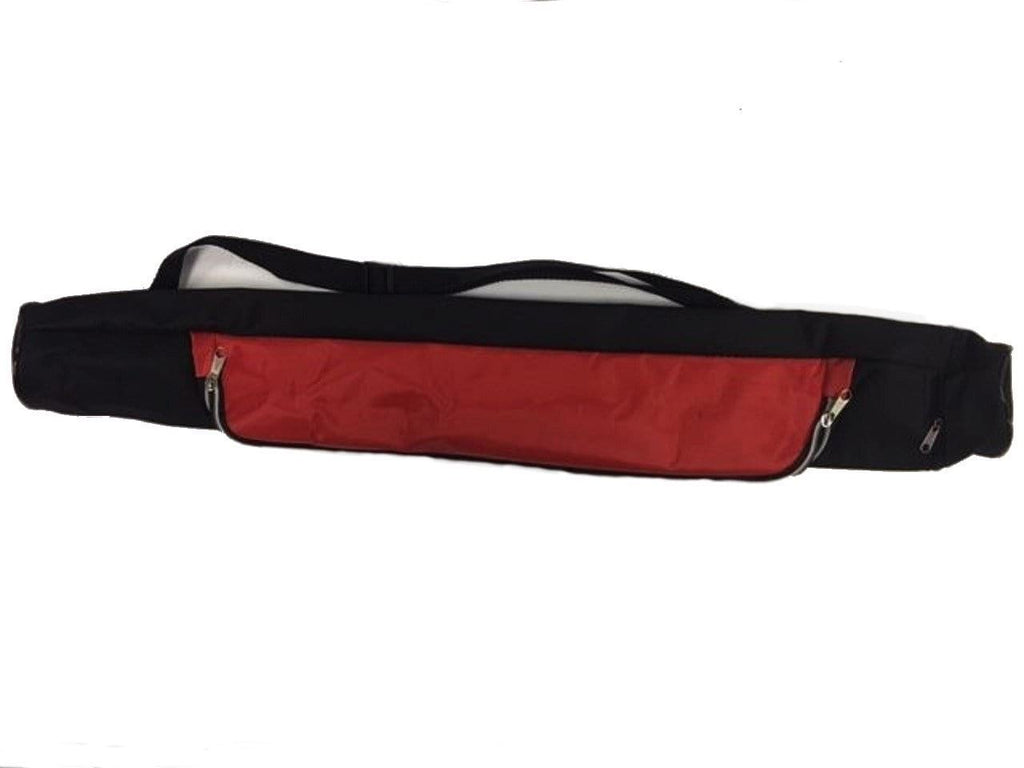 6-Pack Insulated Tube Cooler with Main Zipper & End Zipper Red