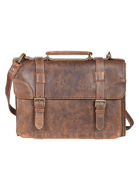 Scully Aerosquadron Collection Leather Satchel Brief Walnut