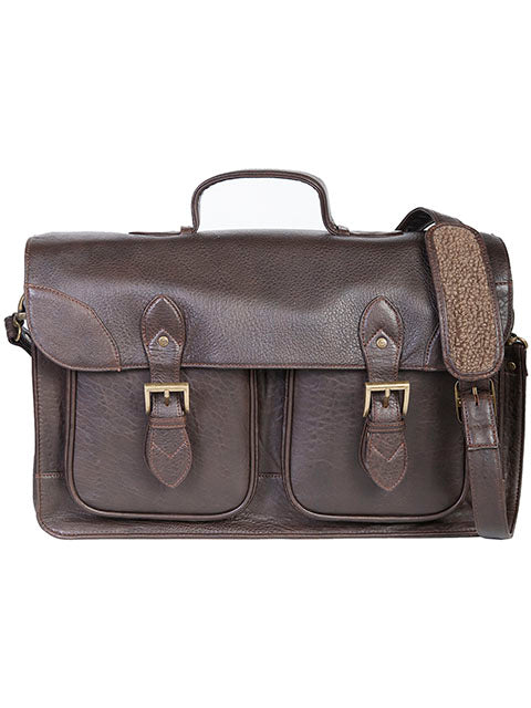 Scully Leather NZ Lamb Workbag Chocolate