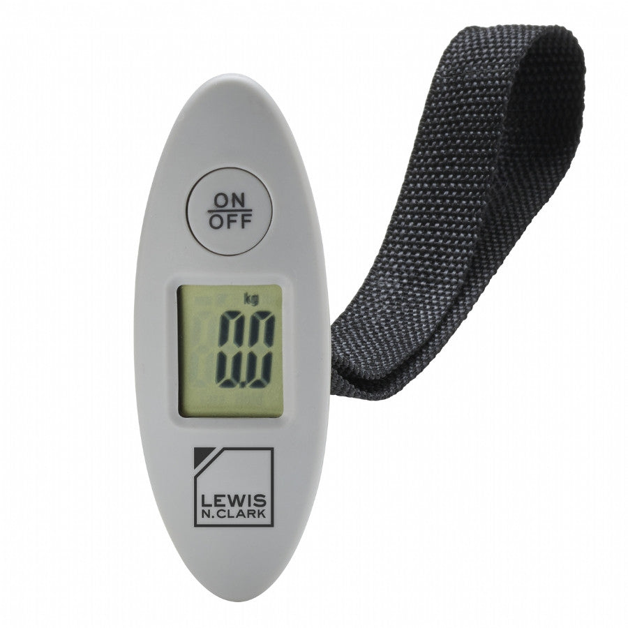 Lewis N Clark Mini Digital Luggage Scale Gray