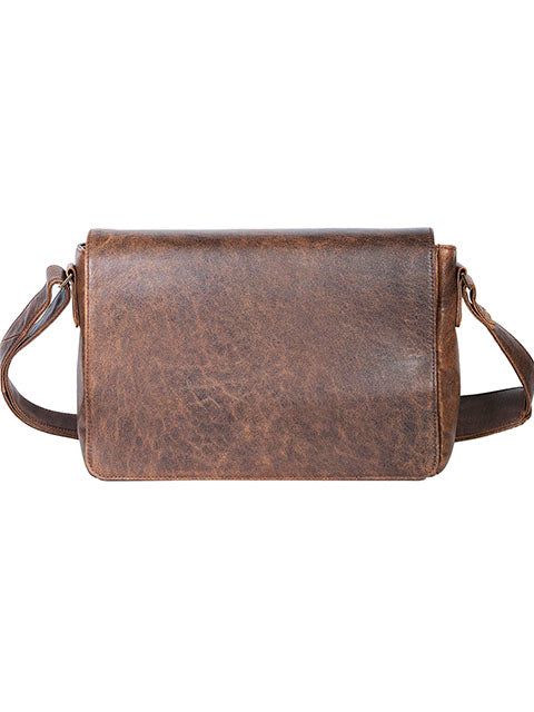 Scully Aerosquadron Collection Leather Messenger Brief Walnut