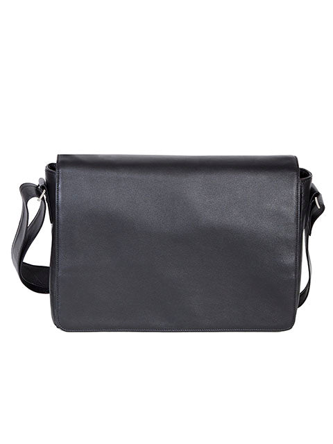 Scully Leather Soft Plonge Messenger Brief Black