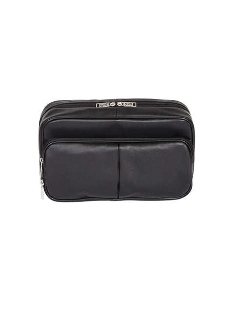 Scully Leather Soft Plonge Travel Kit Black