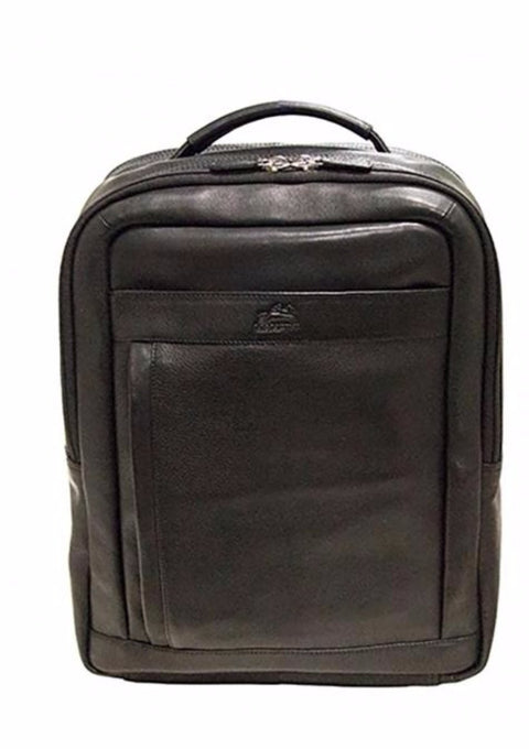 Mancini Colombian Collection RFID Secure Backpack for Laptop and Tablet Black