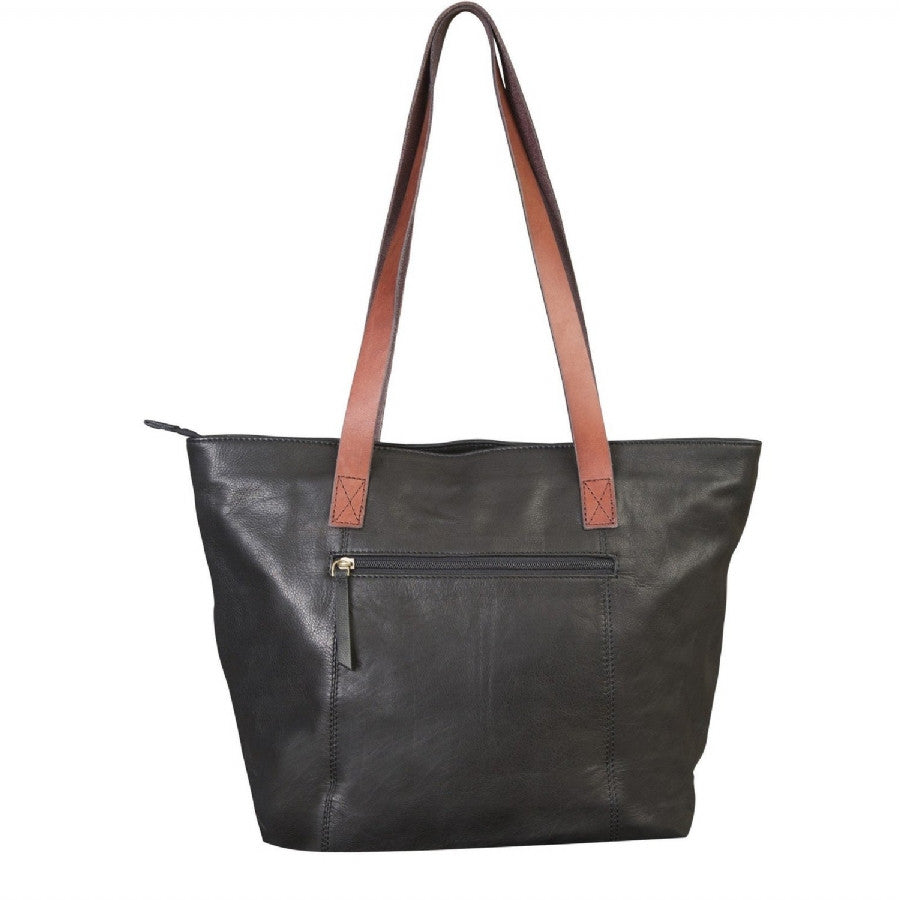 Canyon Outback 17-Inch Harper Canyon Leather Tote Black