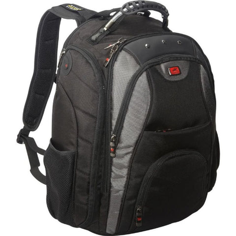 "Mancini Backpack for 17"" Laptop Computer Black"